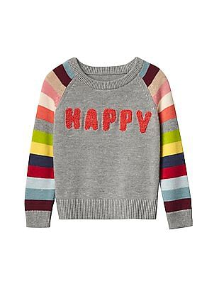 GAP Baby Happy Bright Stripes Sweater
