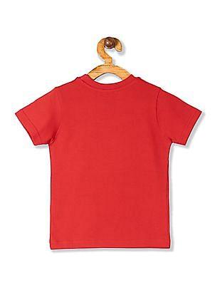 Cherokee Red Boys Cotton Printed T-Shirt