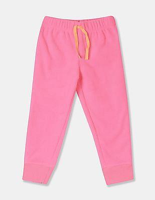 GAP Pink Toddler Girl Fleece Pull-On Joggers
