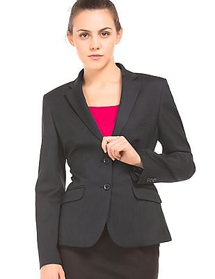 Arrow Woman Textured Single Breasted Blazer
