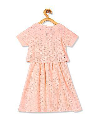 Cherokee Girls Lace Twofer Dress