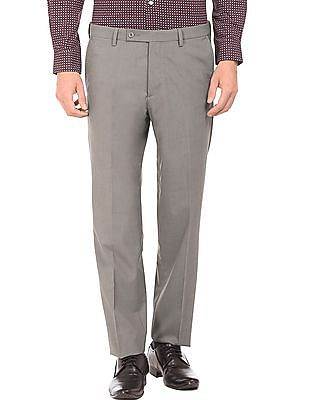 Arrow Regular Fit Flat Front Trousers