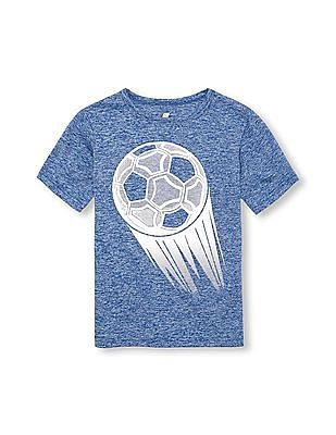 The Children's Place Boys PLACE Sport Short Sleeve Graphic Marl Top