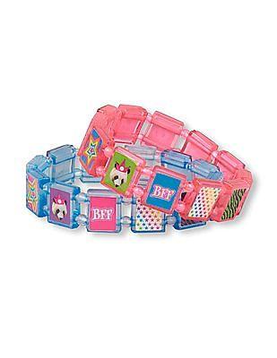 The Children's Place Girls BFF Star Tile Bracelet - Pack Of 2