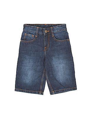 FM Boys Boys Washed Denim Long Shorts