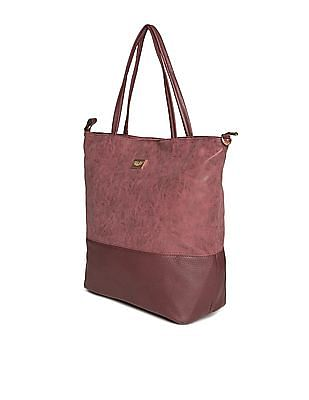Cherokee Panelled Textured Tote Bag