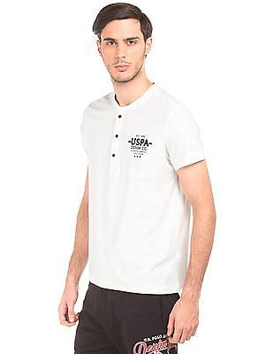 U.S. Polo Assn. Denim Co. Muscle Fit Slubbed Henley T-Shirt