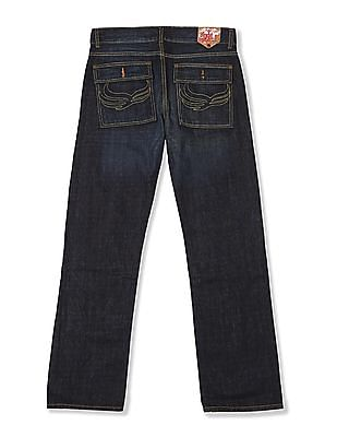 Flying Machine Regular Fit Washed Jeans