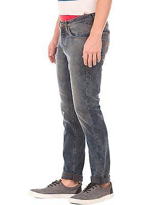 Flying Machine Skinny Fit Acid Wash Jeans