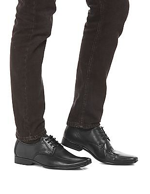 Arrow Grained Leather Derby Shoes
