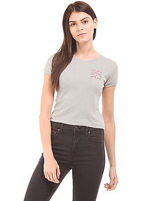 Aeropostale Heathered Crop T-Shirt