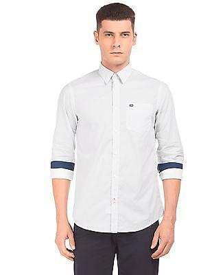 Arrow Sports Slim Fit Dot Print Shirt