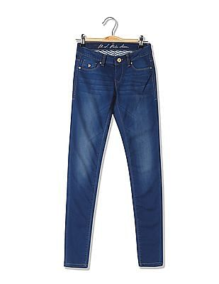 U.S. Polo Assn. Women Stone Wash Whiskered Jeggings