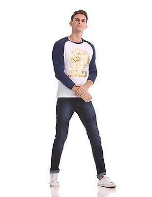 Roots by Ruggers Raglan Sleeve Colour Block T-Shirt