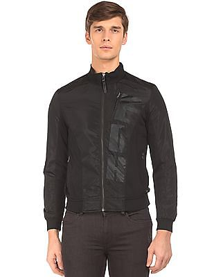 Ed Hardy Tonal Brand Print Bomber Jacket