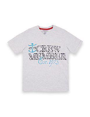 Cherokee Boys Melange Graphic Print T-Shirt