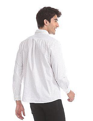 Ruggers White Regular Fit Printed Shirt