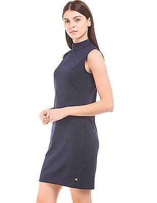 U.S. Polo Assn. Women High Neck Knit Sheath Dress