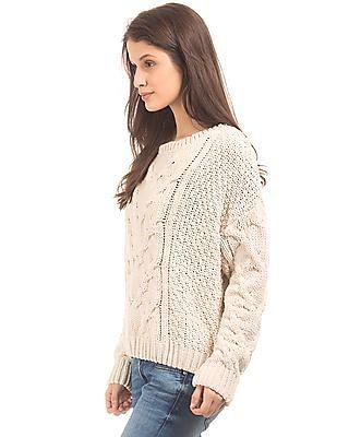 Aeropostale Round Neck Chunky Knit Sweater