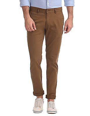 Aeropostale Skinny Fit Flat Front Chinos