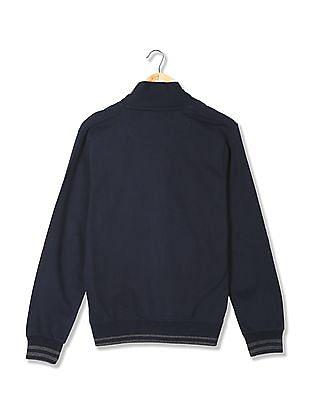 Arrow Sports Regular Fit Buttoned Sweatshirt
