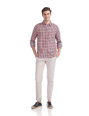 Roots by Ruggers Slim Fit Spread Collar Shirt