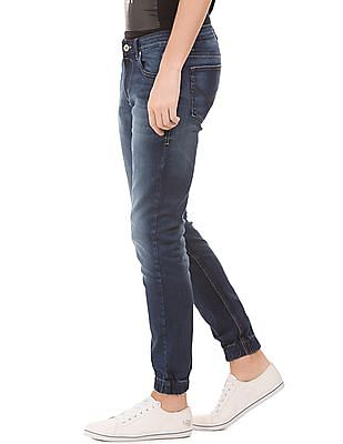 Flying Machine Mid Rise Stone Wash Slim Fit Jeans