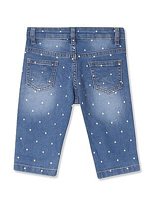Donuts Girls Stone Wash 3/4th Jeans