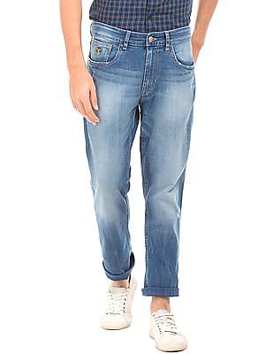 U.S. Polo Assn. Denim Co. Stone Washed Slim Straight Fit Jeans