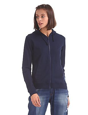 Cherokee Hooded Solid Sweatshirt
