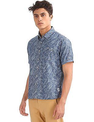 Cherokee Short Sleeve Printed Shirt