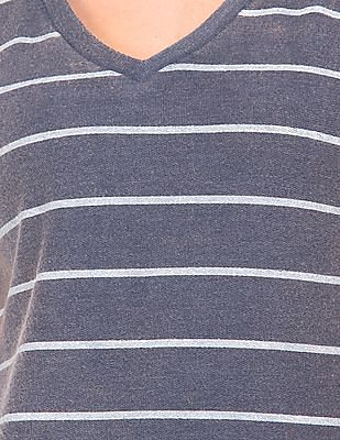 EdHardy Women Striped French Terry Maxi Dress