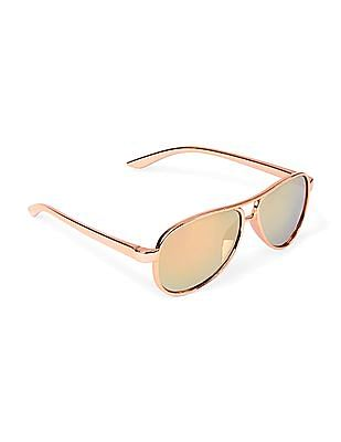 The Children's Place Toddler Girl Round Frame Tinted Sunglasses