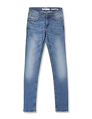 Flying Machine Skinny Fit Whiskered Jeans