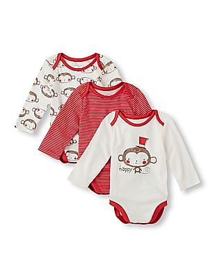 The Children's Place Baby Printed Bodysuit - Pack Of 3
