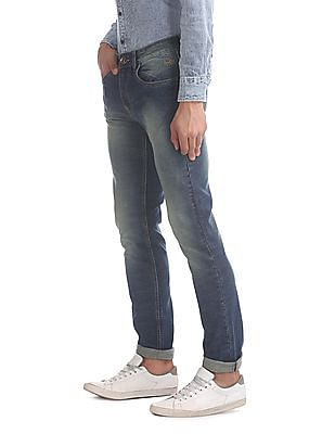 Flying Machine Blue Michael Slim Tapered Fit Tinted Jeans