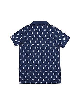 U.S. Polo Assn. Kids Boys Leaf Print Polo Shirt