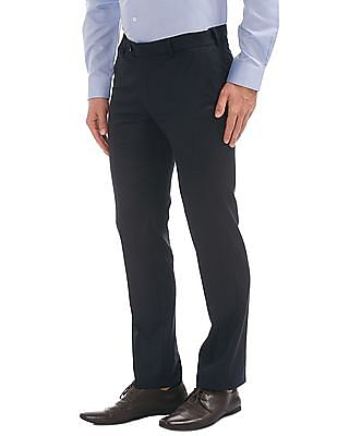 Arvind Regular Fit Solid Trousers
