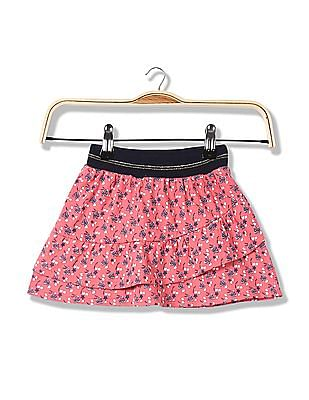 Donuts Girls Printed Mini Skirt