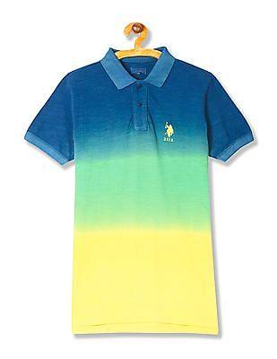 U.S. Polo Assn. Kids Boys Short Sleeve Ombre Dyed Polo Shirt