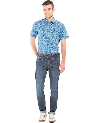 U.S. Polo Assn. Floral Print Cotton Shirt