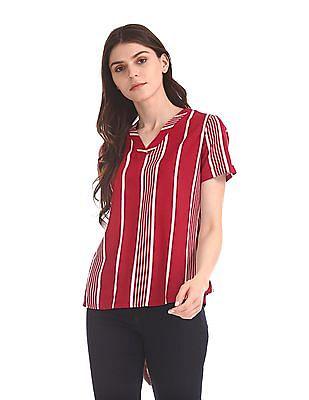 U.S. Polo Assn. Women Vertical Stripe Viscose Top