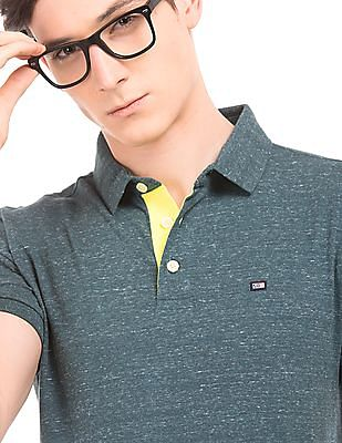 Arrow Sports Heathered Cotton Polo Shirt