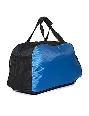 Flying Machine Blue Honeycomb Pattern Duffel Bag
