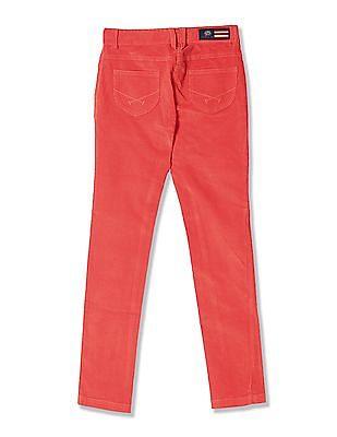 U.S. Polo Assn. Kids Girls Solid Corduroy Trousers