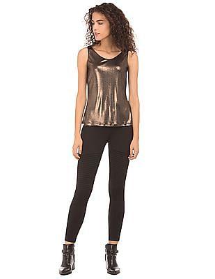 EdHardy Women Regular Fit Metallic Top