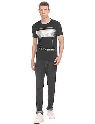 Flying Machine Holographic Print Slim Fit T-Shirt