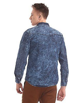 Cherokee Long Sleeve Washed Shirt