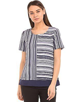 Arrow Woman Regular Fit Striped Top
