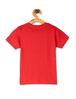 Cherokee Red Boys Crew Neck Car Graphic T-Shirt